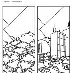 Desenho paisagem Natural transformada