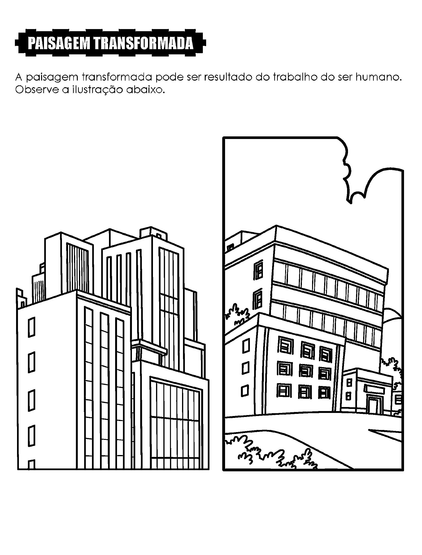 Desenho - Paisagem transformada