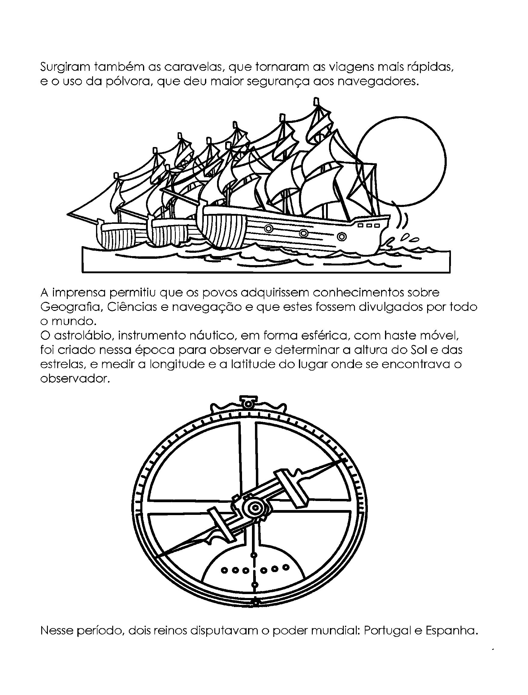 As Grandes Viagens - Caravelas e Instrumentos