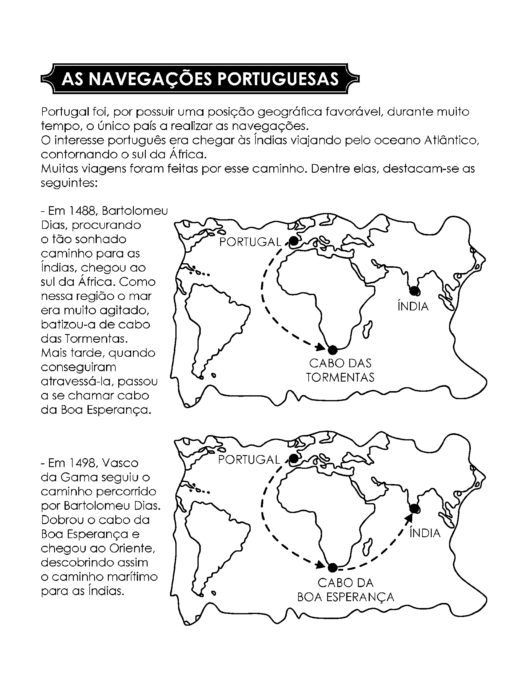 As navegações portuguesas