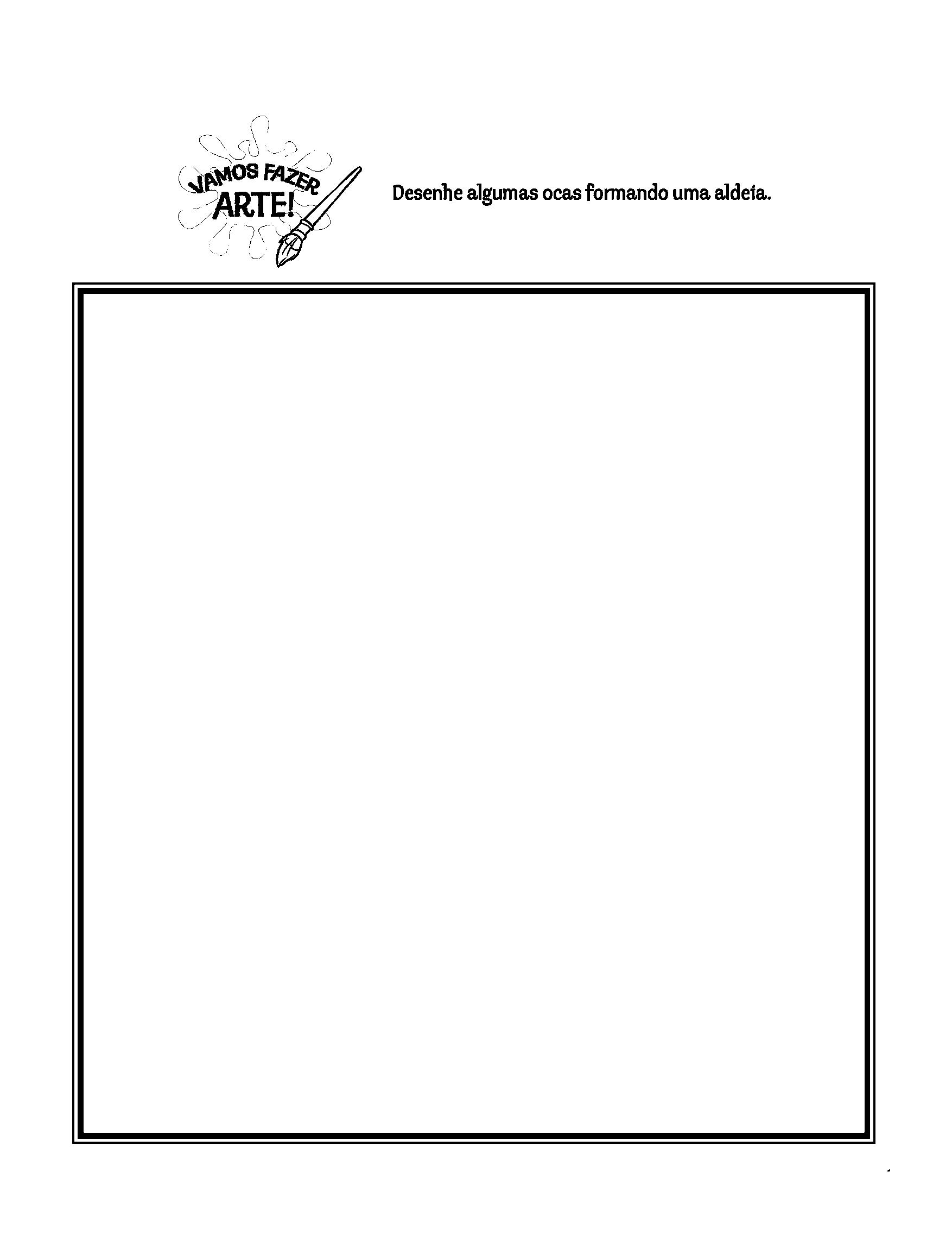 Desenhe uma aldeia