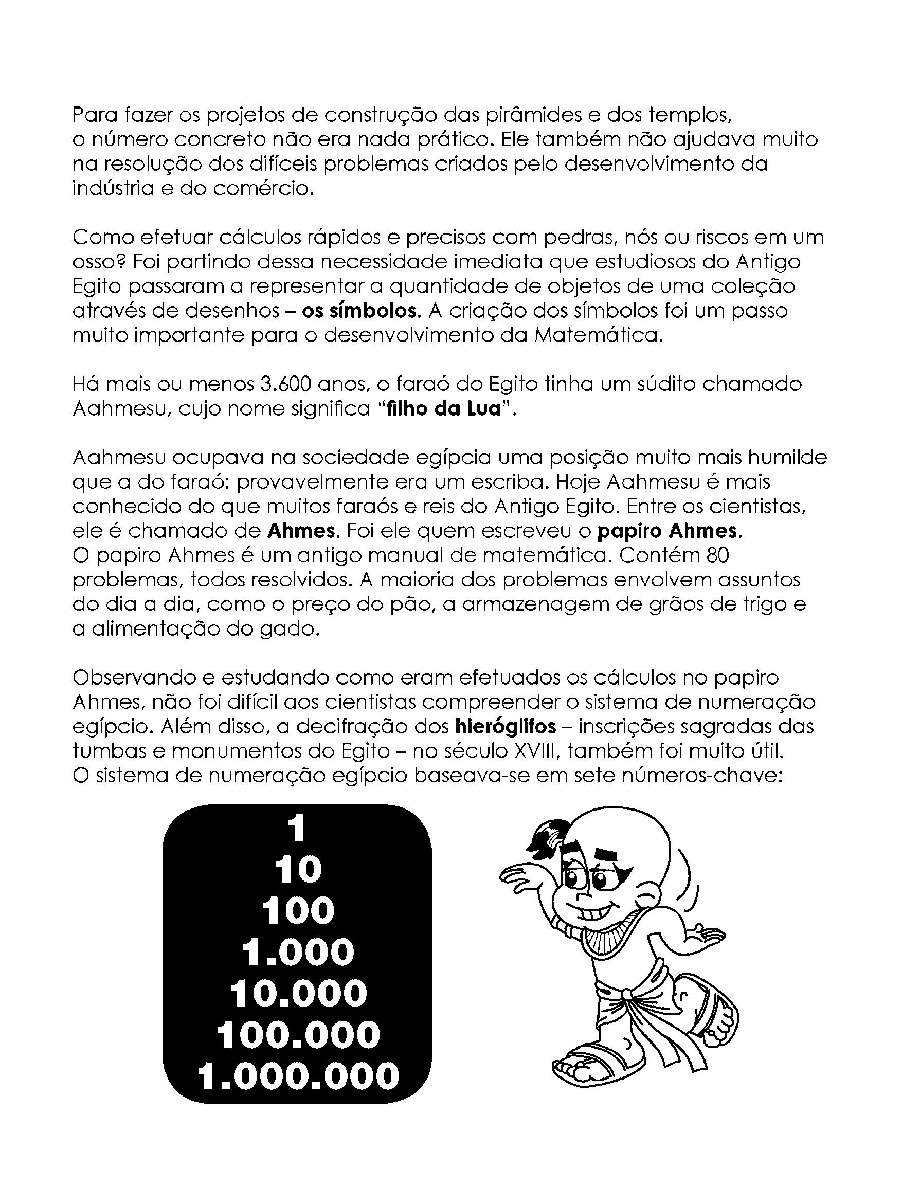 Sistema de Numeração Egípcio - cálculos