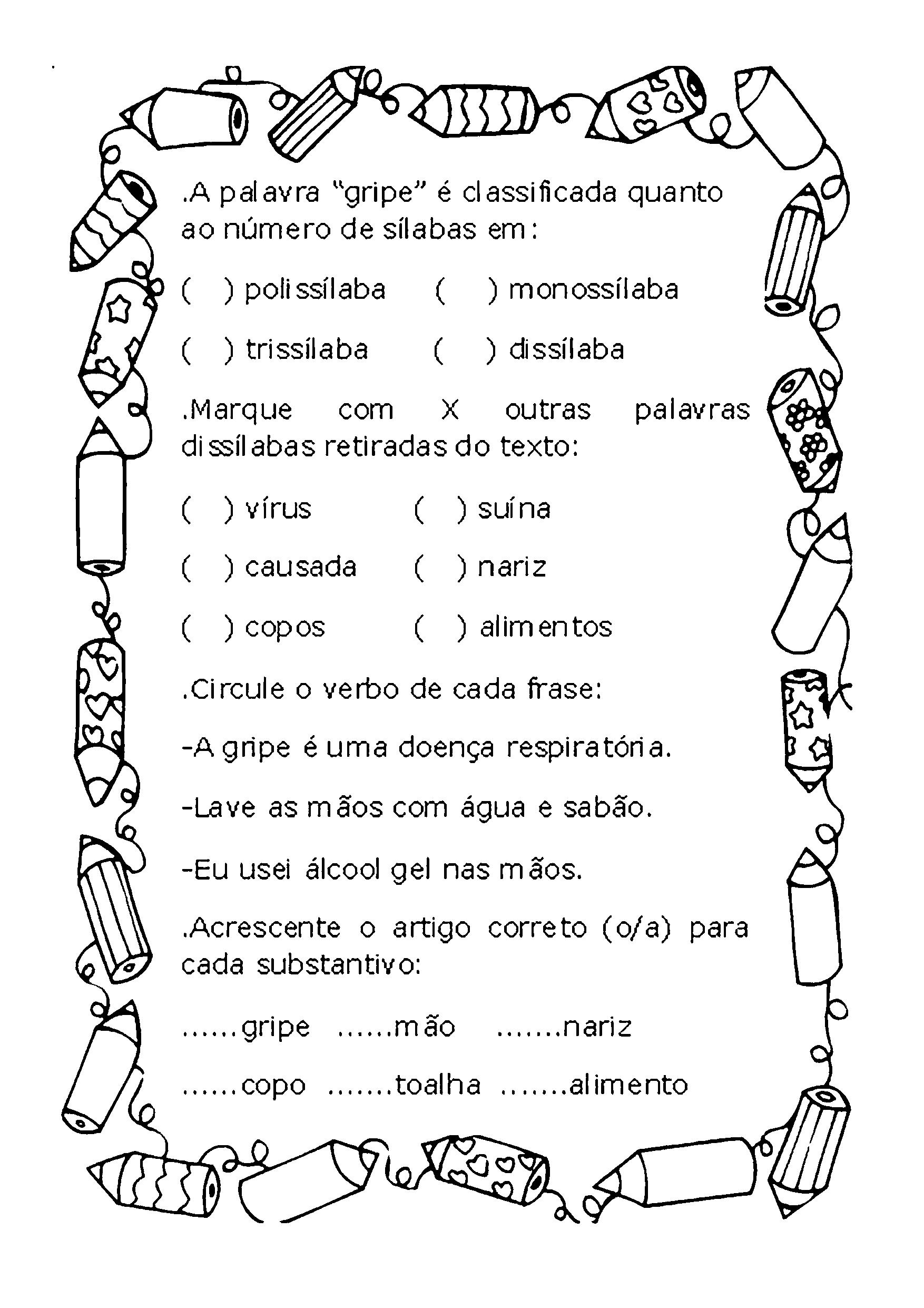Gramática do texto Gripe H1N1 - p.1