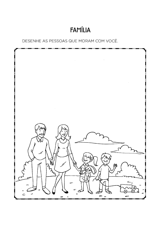 desenhar as pessoas que moram com você