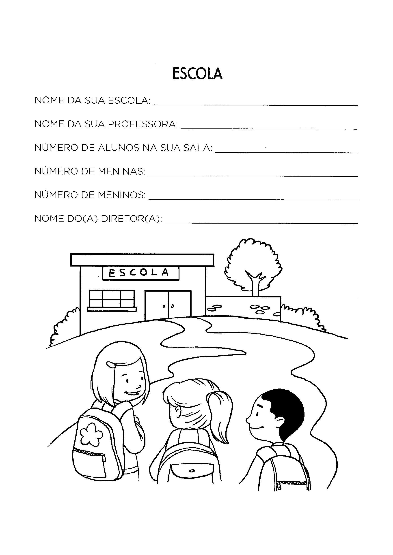 Preencher com dados da escola