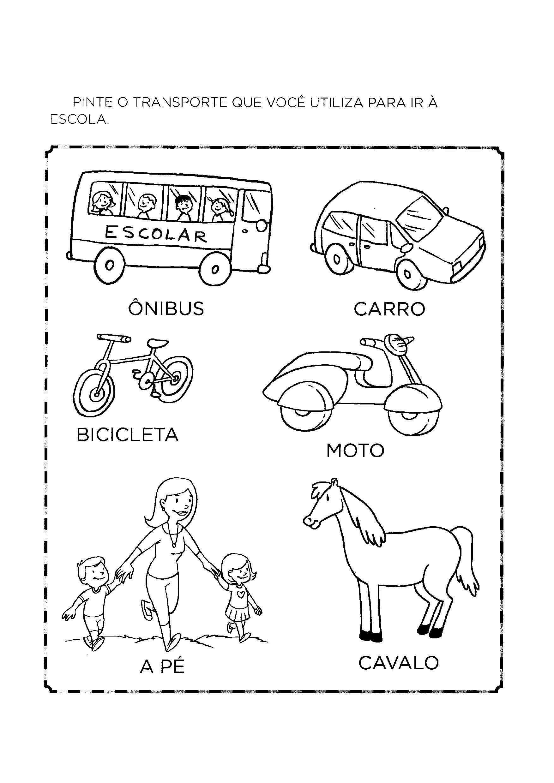 Transporte usado para ir à escola