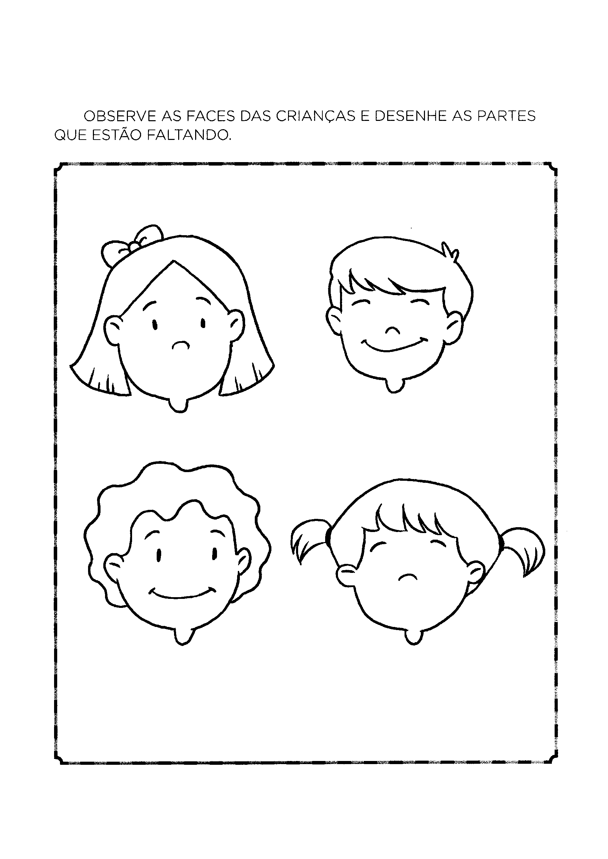 Desenhar as partes que faltam