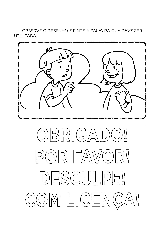 Pinte a palavras a ser utilizada