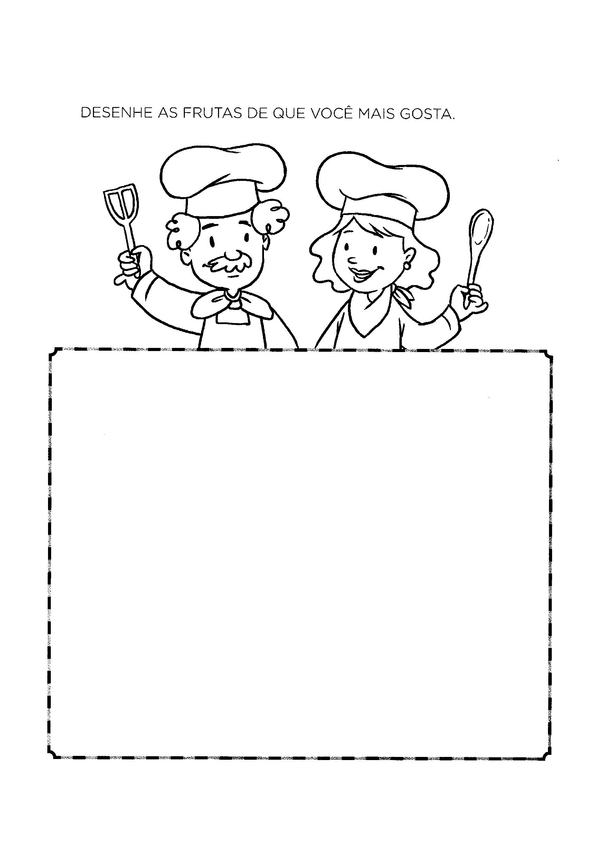 Desenhar as frutas