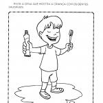 Atividade de Higiene Bucal: Pintar a cena