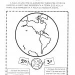 Proporção da água no planeta