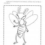 Completar e colorir o mosquito