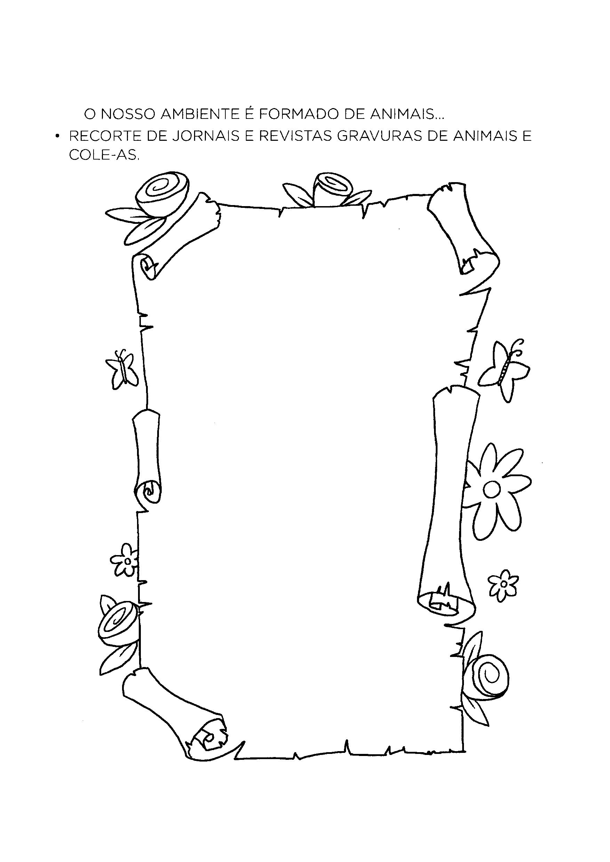 Recortar e colar gravuras de animais