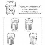 Atividades sobre Reciclagem do Lixo para Educação Infantil