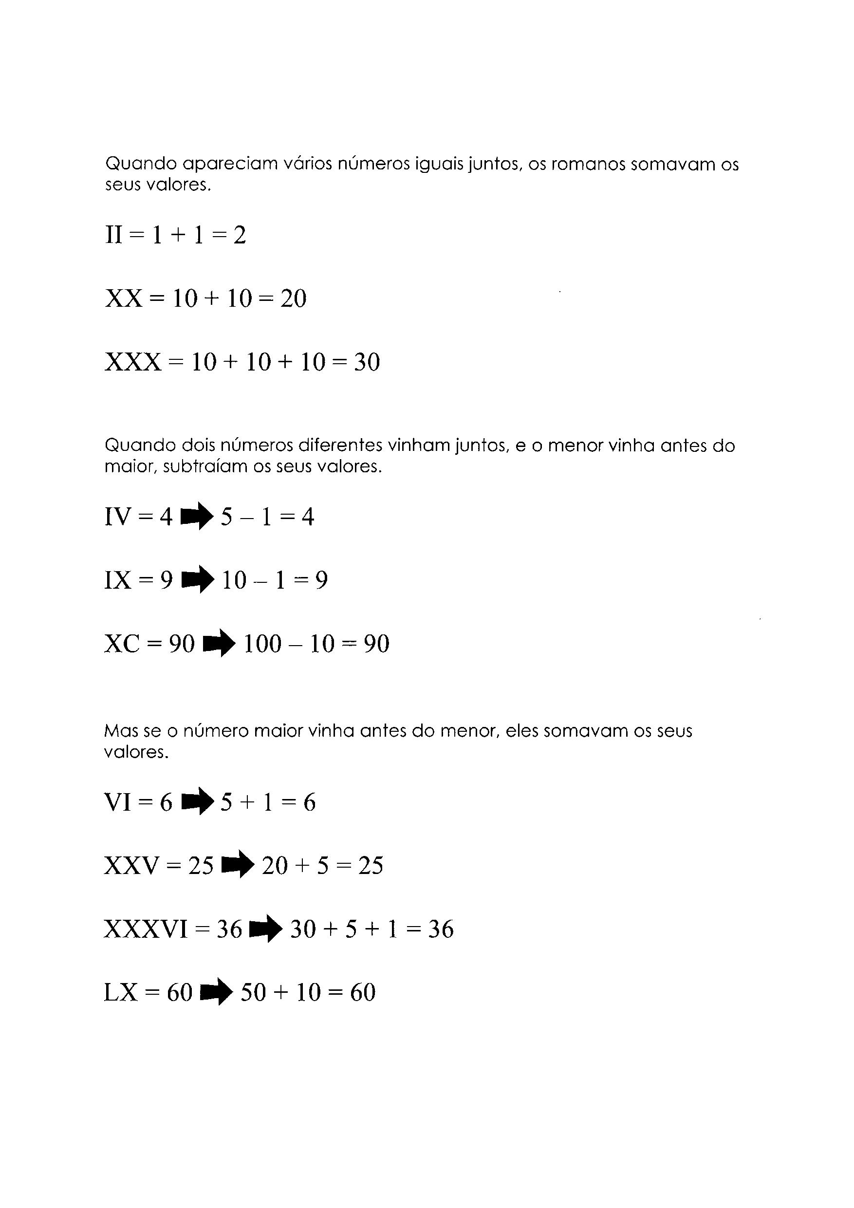 Sistema de Numeração - Romano