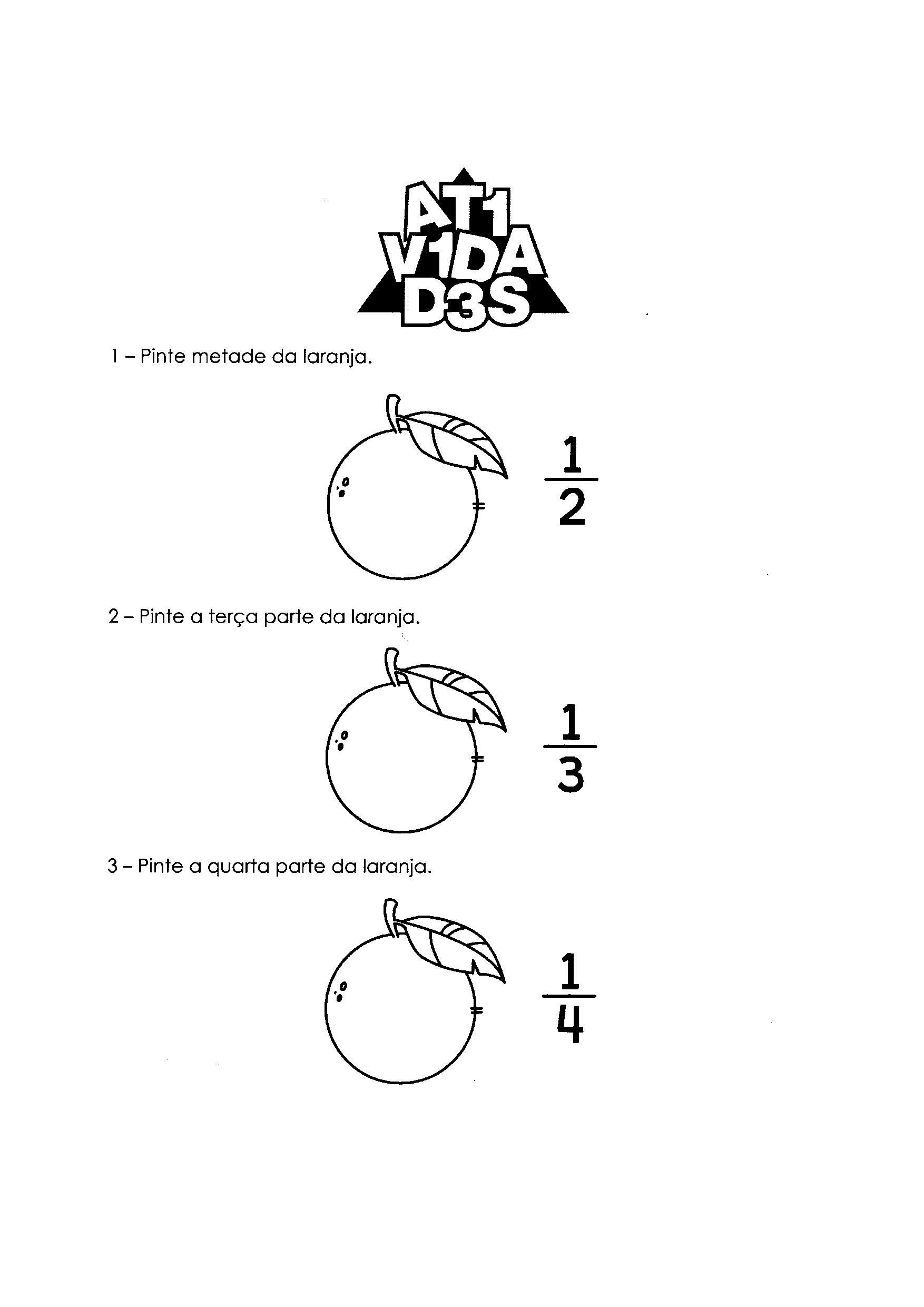 Atividades com Frações 1
