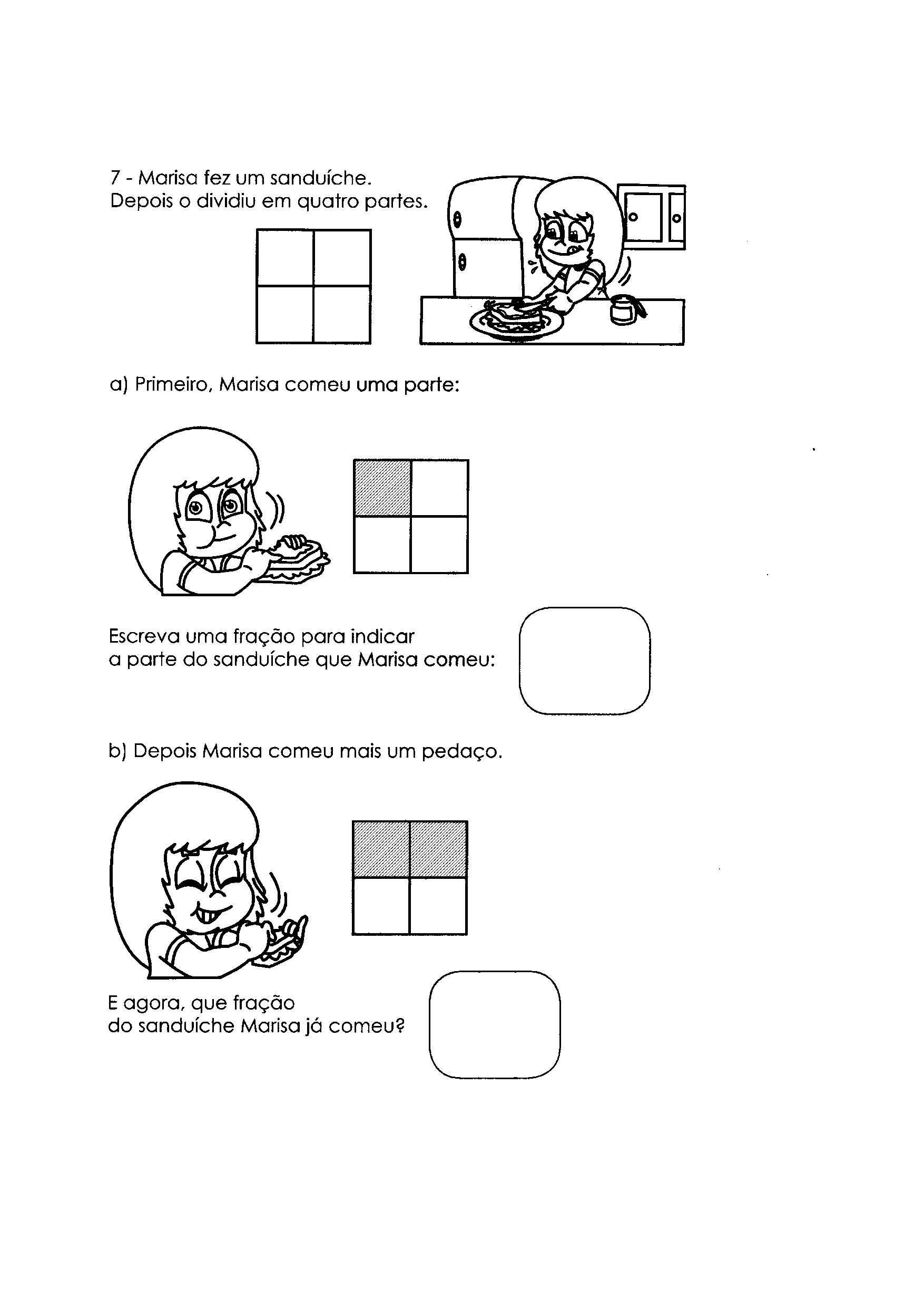 Atividades com Frações 7