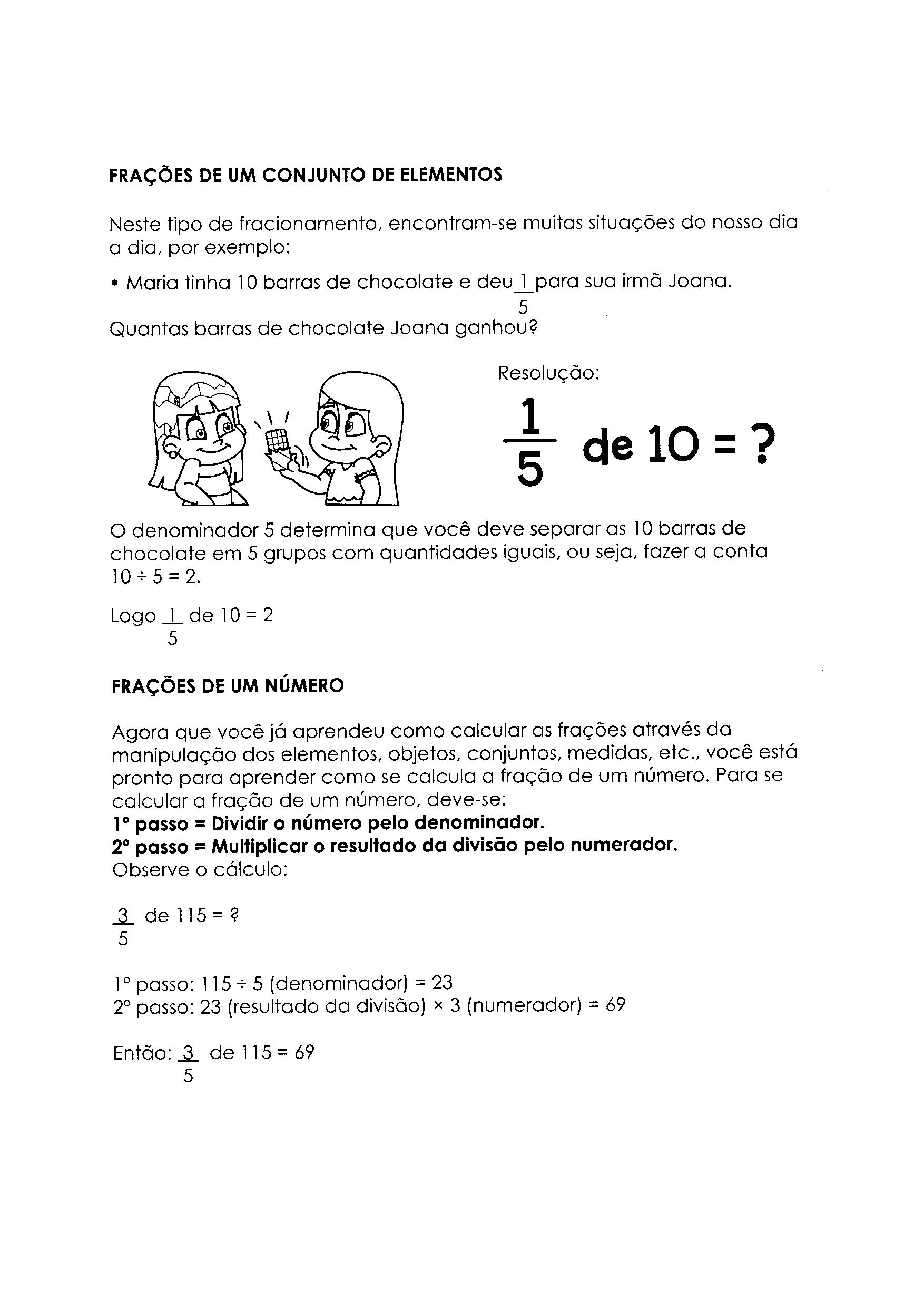 Aprendendo Frações de um número