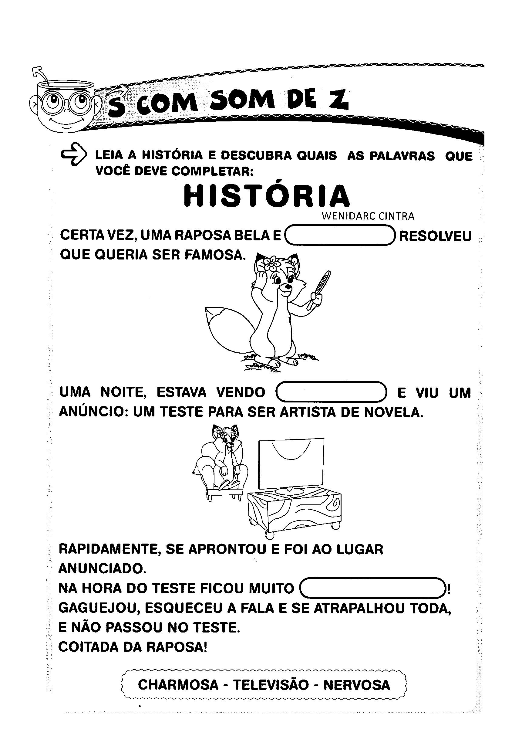 Leitura da história