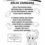 Poema - Zélia zangada