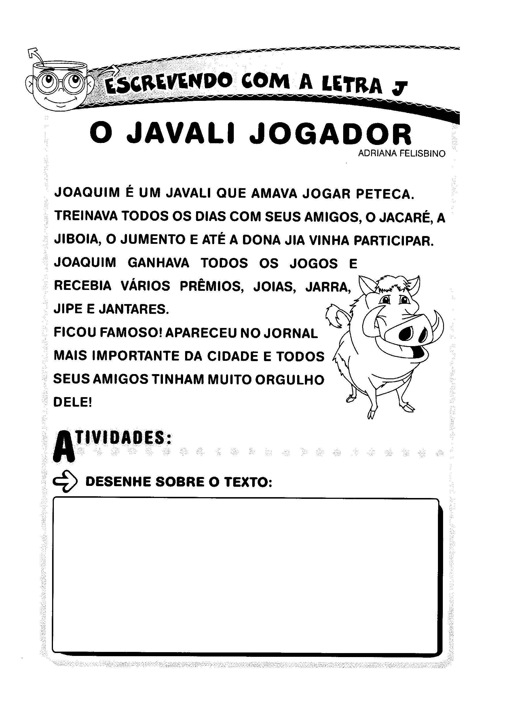 História: O Javali Jogador