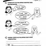 Atividade de completar palavras
