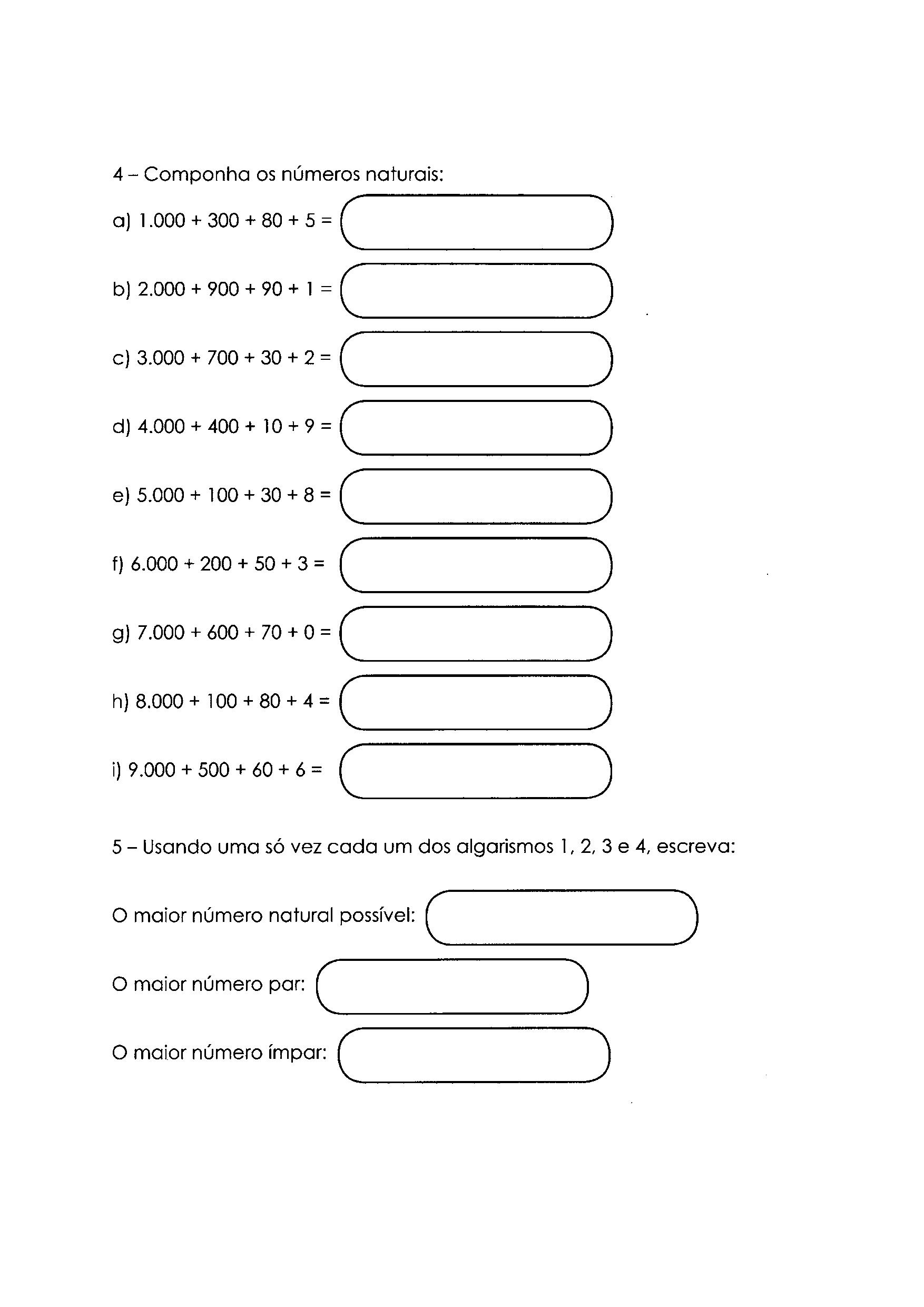 Composição de um número