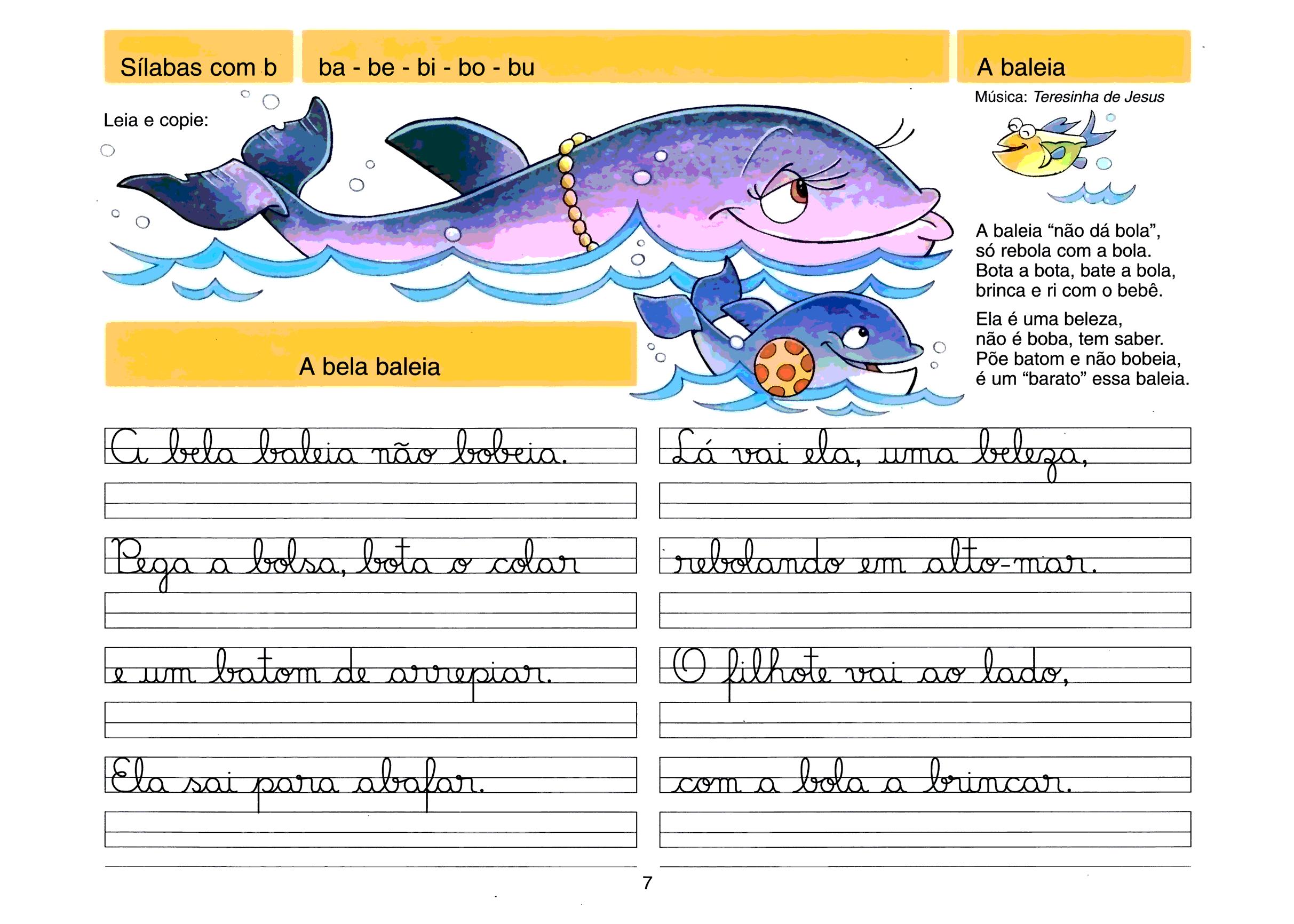 Caligrafia - sílabas com B