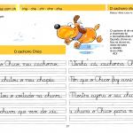 Caligrafia - sílabas com CH